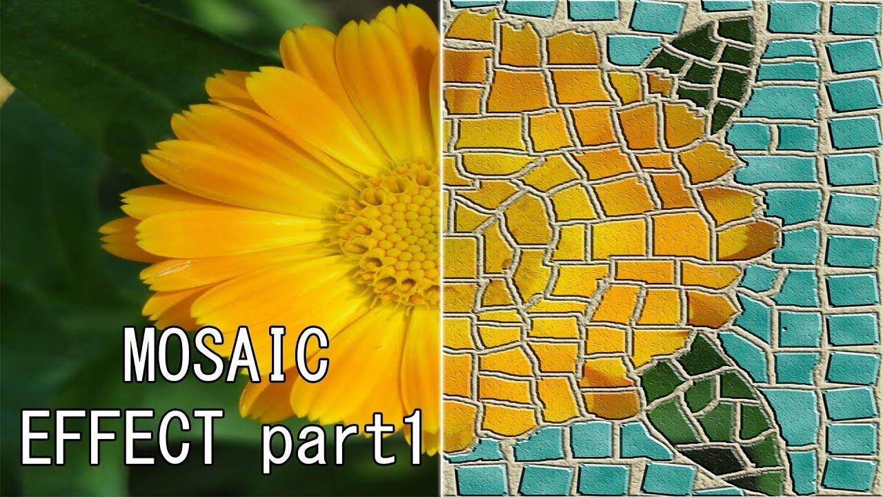 Photoshop CS5 Mosaic Effect Tutorial Part 1  YouTube