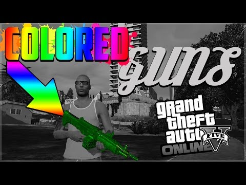 GTA 5 Online - CHANGE WEAPON TO ANY COLOR GLITCH! NEW WEAPON PEARLESCENT GLITCH! (GTA V Online)