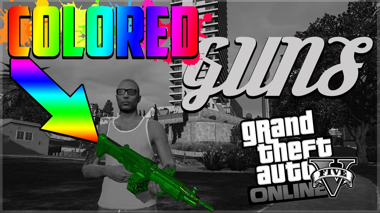 Color change online - Gta 5 Online Change Weapon To Any Color Glitch New Weapon Pearlescent Glitch Gta V Online Youtube