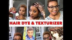 Dying my hair and using a hair texturizer | Bleached hair | MISS OLA