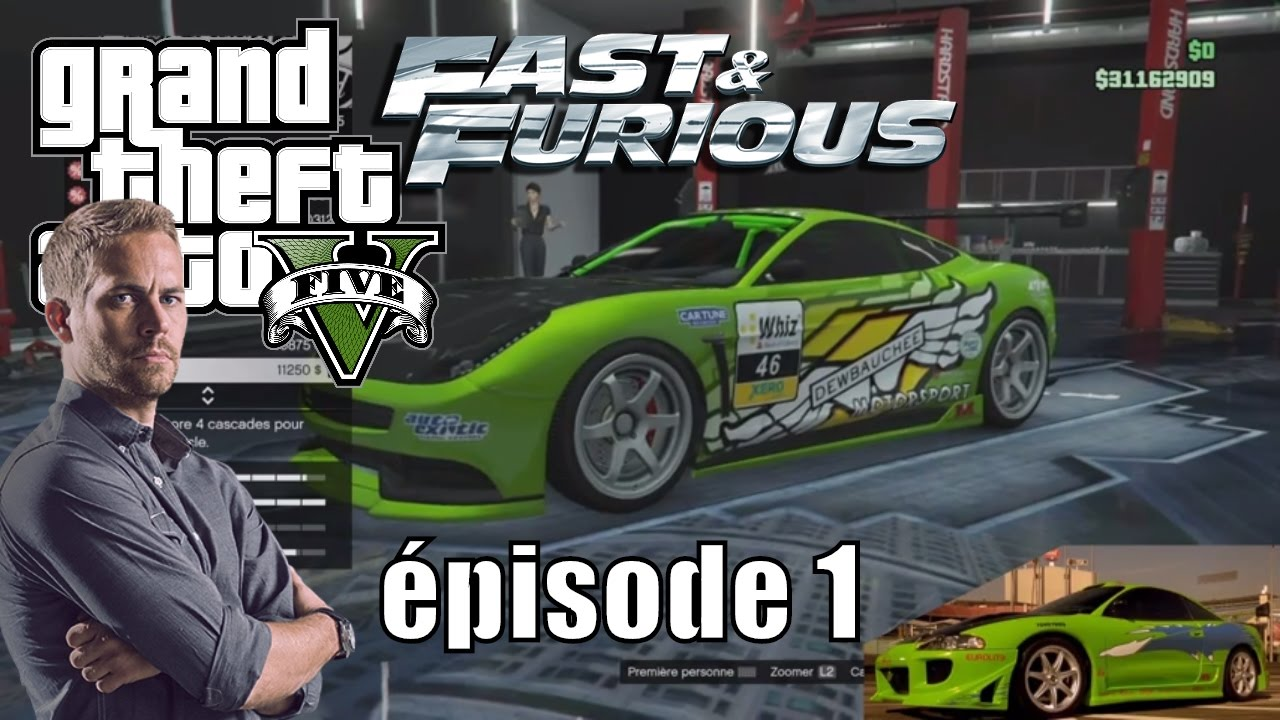 voiture fast and furious dans gta 5. Black Bedroom Furniture Sets. Home Design Ideas