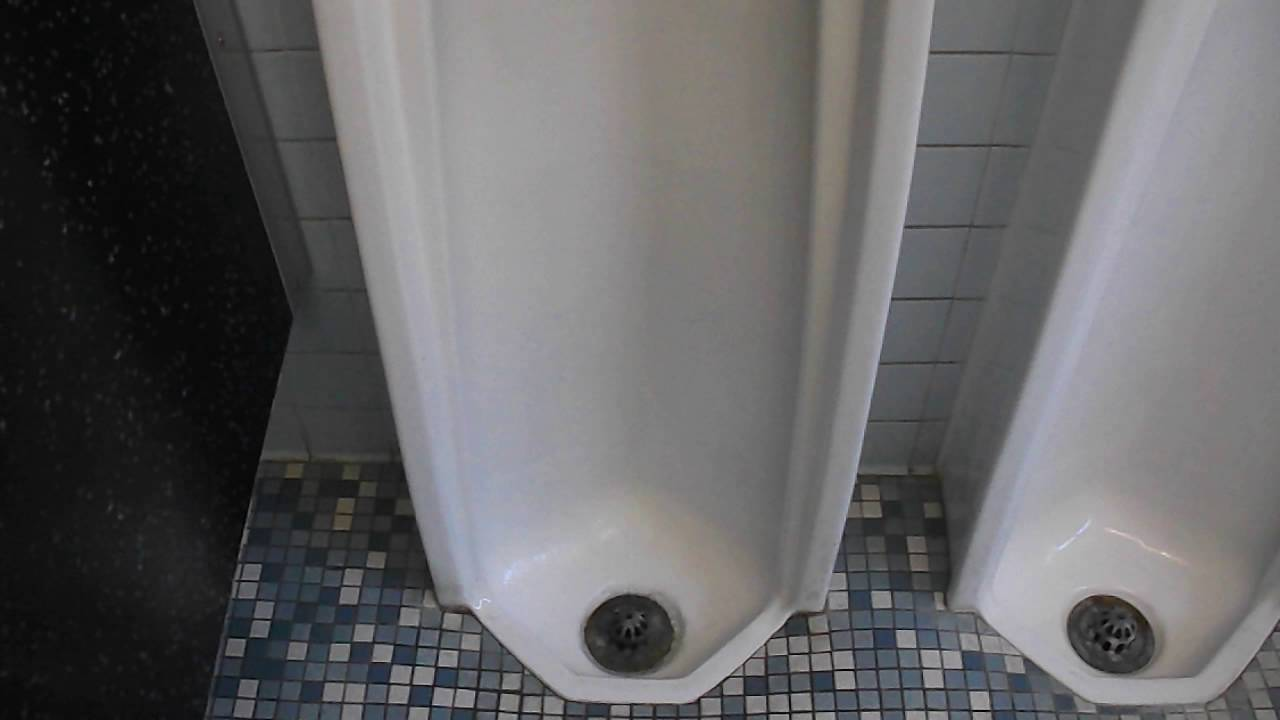 Two Vintage Urinals (Possibly Rheem) - YouTube