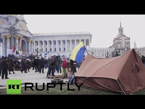Ukraine: Anti-govt protests continue on Maidan Square