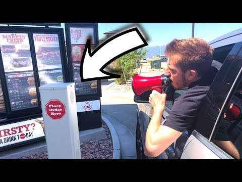 Megaphone In The Drive Thru!