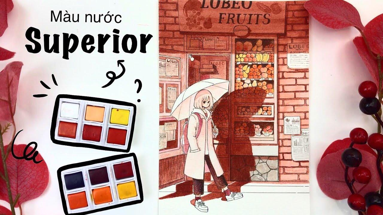 [ Họa cụ Lỗ Store ] Review màu nước giá rẻ Superior Watercolor | Lobeo Art | Tổng quát các nội dung liên quan đến họa cụ lỗ store shopee mới cập nhật