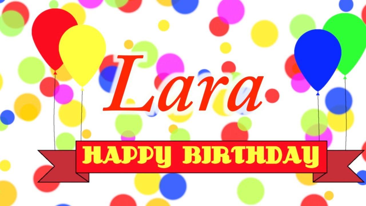 Happy Birthday Lara