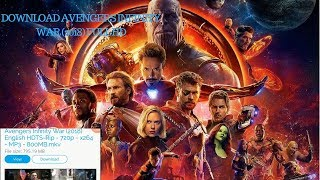 How to download avengers infinity war (2018) full movie in hd