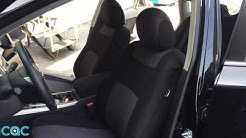 Charcoal Cloth Car Seat Cover Installation on Altima