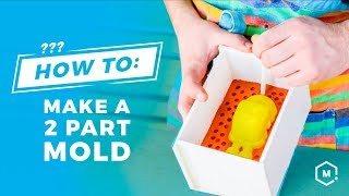 How To Use 3D Printing to Make a Two-Part Silicone Mold // Silicone Mold Making