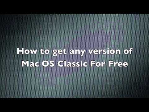 Download any version of mac os classic!