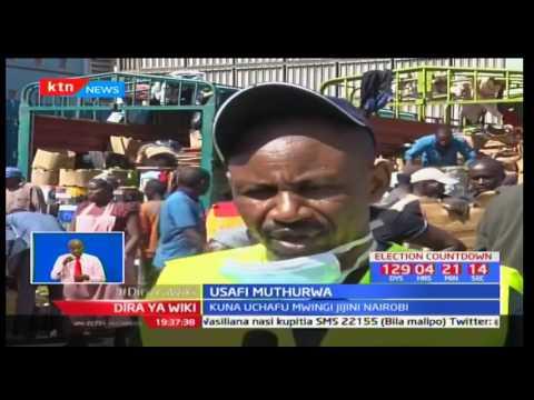 Wanafunzi Wa Chuo Kikuu Cha Kisii Tawi La Nairobi Wasafisha Soko La Muthurwa