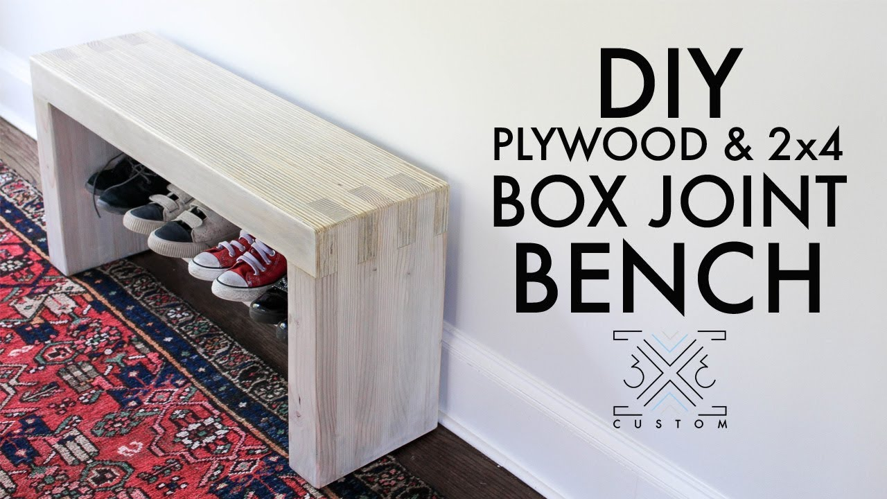 Diy Plywood And 2x4 Box Joint Bench Without Cutting