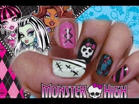 Halloween Monster High Nails Youtube