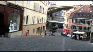 Лозанна. Французский город в Швейцарии.(Центральная часть Лозанны /Lausanne. Французского города в Швейцарии., 2015-07-06T01:33:13.000Z)