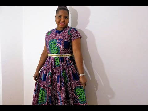 Diy African print pleated dress