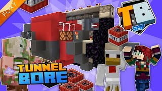TUNNEL BORE | Truly Bedrock Season 1 [95] | Minecraft Bedrock Edition 1.14 SMP