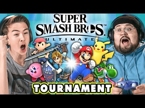Super Smash Bros. Ultimate TOURNAMENT! | React: Gaming thumbnail