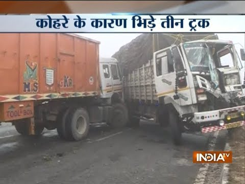 3 trucks collide on Delhi-Amritsar highway due to dense fog, no loss of life reported