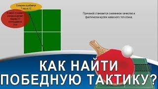 ТАКТИКА: КАК СОЗДАТЬ СЕБЕ ПРЕИМУЩЕСТВО (Видео-урок настольного тенниса по тактике)