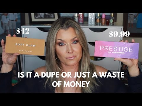 IS IT A DUPE OR JUST A WASTE OF MONEY | PRESTIGE BY CCOLOR COSMETICS vs ABH SOFT GLAM