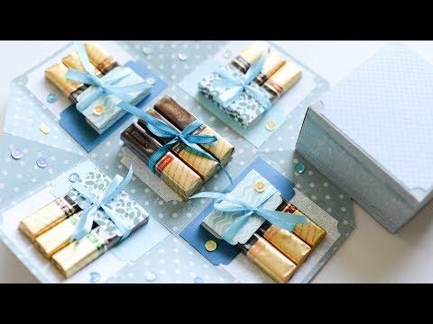 How to make : Exploding Box with Chocolates | Pudełko z Czekoladkami - Mishellka #251 DIY