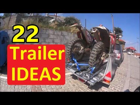 how to build a dirt bike trailer