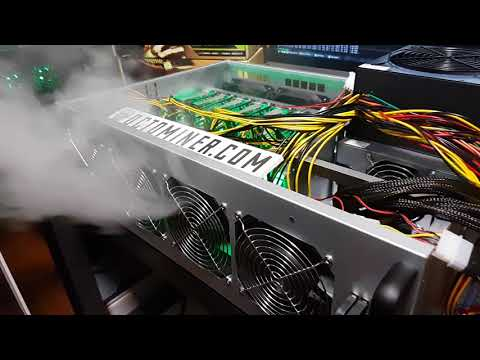 OCTOMINER  Fan Power Test - High power & efficiency crypto mining rig