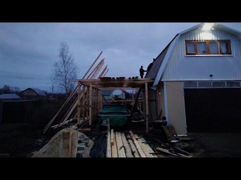 Построил ГАРАЖ МЕЧТЫ с нуля  своими руками ! обзор гаража