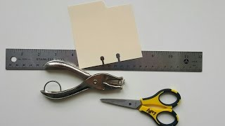 Rolodex Cards:  Make Your Own Holes