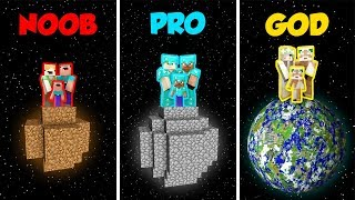 Minecraft NOOB vs. PRO. vs. GOD: FAMILY PLANET CHALLENGE in Minecraft! (Animation)