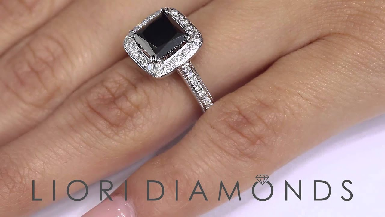 BDR SOLD 004 2 74 Carat Princess Cut Natural Black Diamond