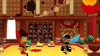 Das ninja-Haus durch ein AG-lustiges cartoon