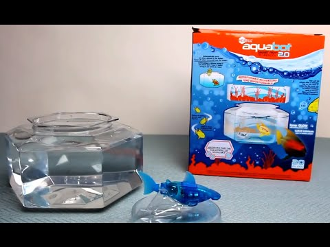 HexBug AquaBot 2.0 with Bonus Bowl - Play Test Review of Hammerhead Shark + Fish Tank