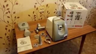 Видеообзор на Мясорубка Bosch MFW 45020