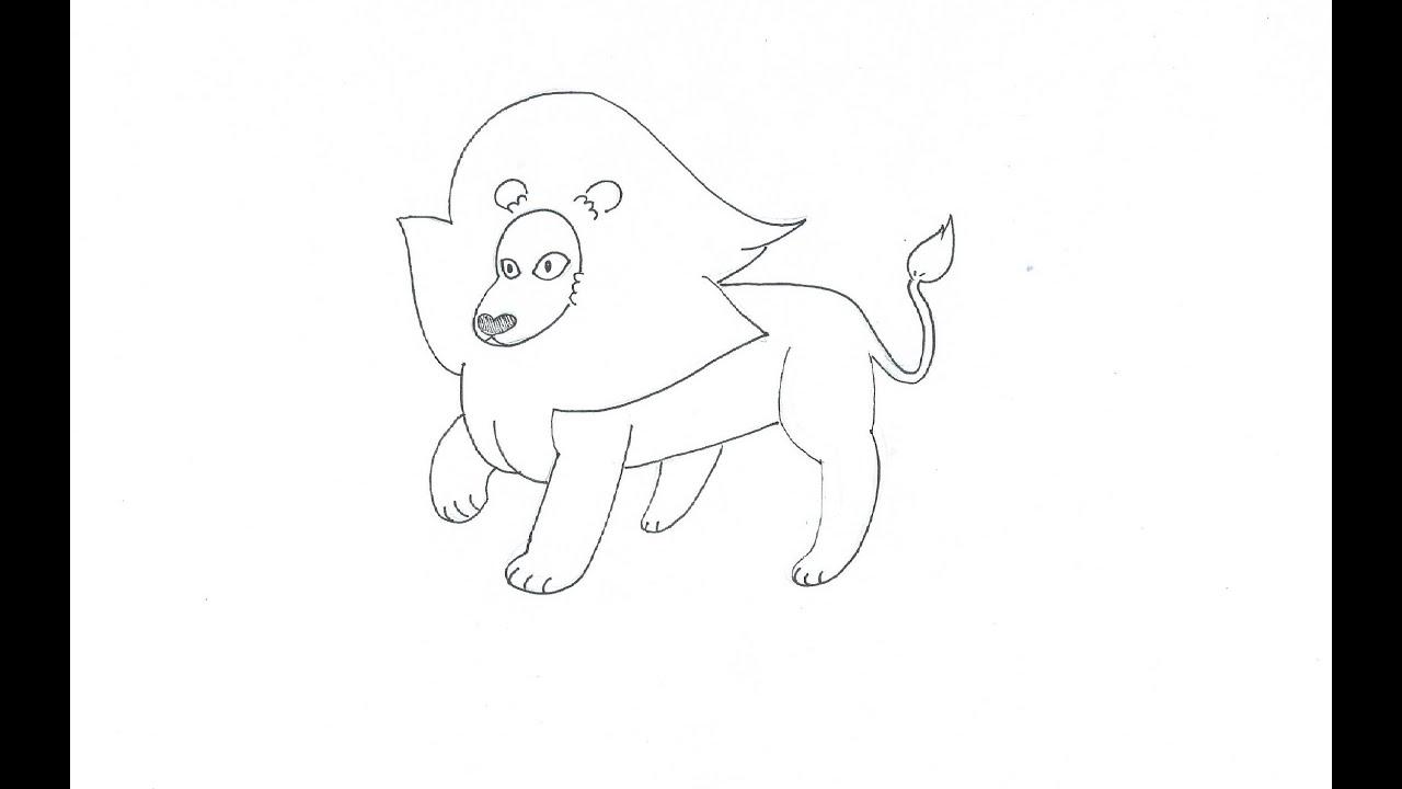 Como dibujar a León (Steven Universe) (rápido) - YouTube