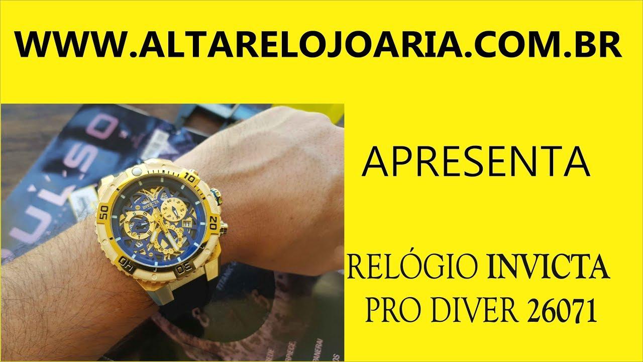 d99400f9c55 Lançamento Relógio Invicta Pro diver Referencia 26071 Cronógrafo.  Altarelojoaria