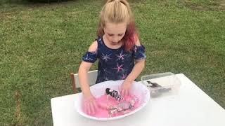 Elle makes pink goop