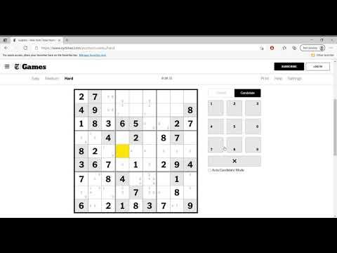 Hard Sudoku New York Times April 12