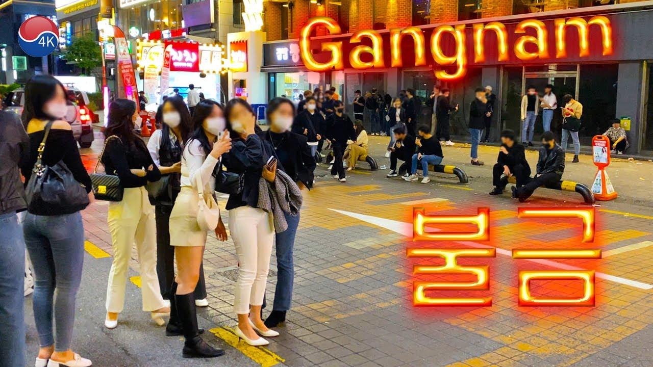 Download [4K] Seoul Gangnam -  Alleyway Friday Night Walk, Gangnam fashion on an autumn night. 4K Seoul Korea