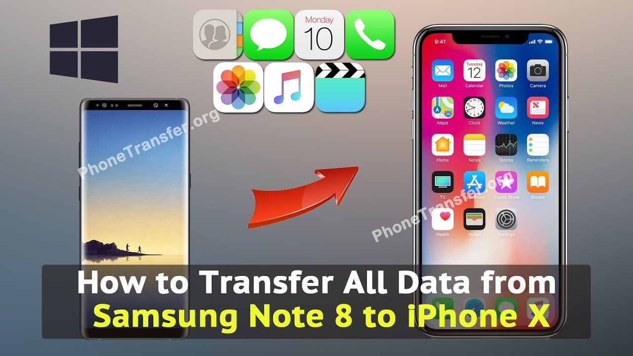 how to send pictures from iphone how to transfer all data from samsung note 8 to iphone x 5622