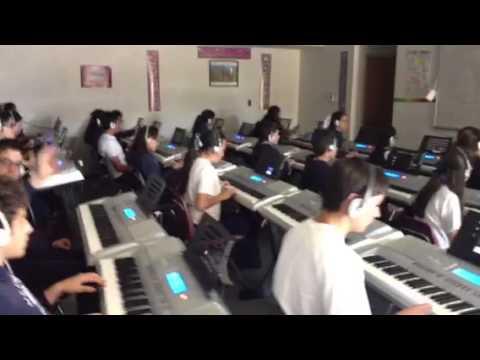 8th grade music class