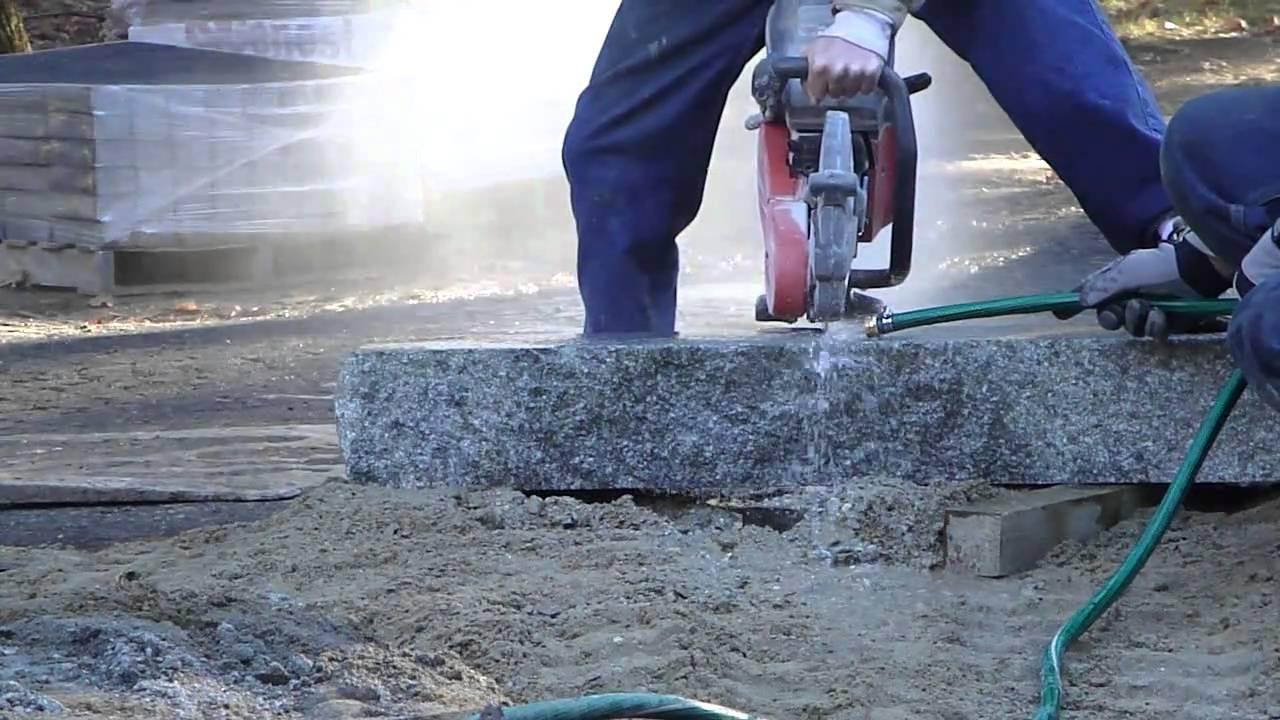 Husqvarna Partner K960 Cutting Granite With Diamond Blade