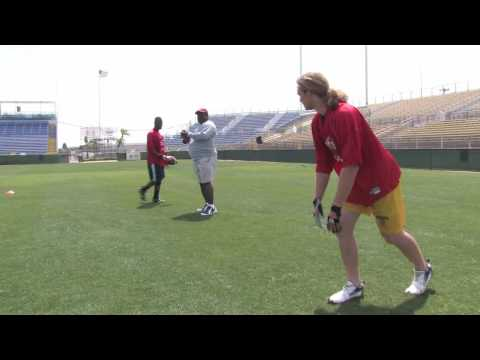 How to Play Football : Wide Receiver Catching Tips