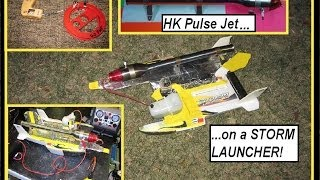 HobbyKing Pulse Jet Demo on a STORM LAUNCHER with start up tips.