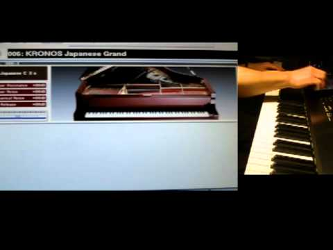 Real Baby Grand Piano vs Korg Kronos Pianos - awesome comparison!