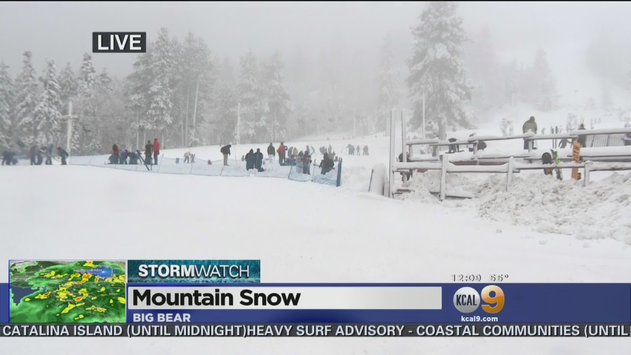 Storm Also Bringing Snow Down On Southern California Mountains