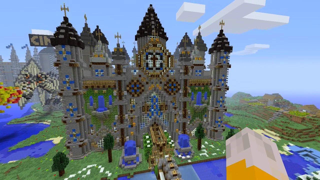 Minecraft Xbox Cathedral Mega Build YouTube