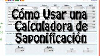 017 calculadora de saponificación o de hacer jabón