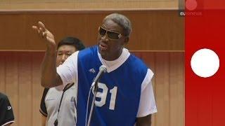 Dennis Rodman chante