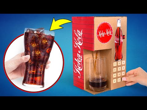 DIY Cardboard Coca-Cola Vending Machine